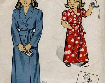 DuBarry 5745 Vintage Floor Length Girls Tie Robe - Size 8 years