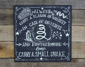 Typography Whiskey And Snakes Screen Print