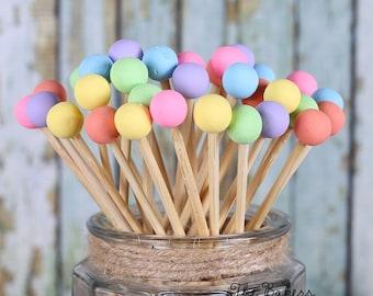 Pastel Rainbow Lollipop Sticks, Rainbow Cake Pops Sticks, Rock Candy Sticks, Easter Cake Pop Sticks, Easter Lollipop Sticks, Rainbow Skewers