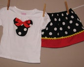 Disney Inspired Traditional Minnie Mouse Outfit - Baby Toddler Girls - Perfect for Disney Trips or Gift