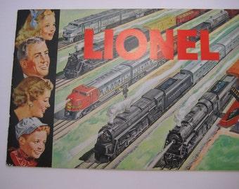 Lionel Electric 1951 Original Vintage 0 Gauge Model Toy Trains Catalog Toy Train Pre War Father's Day