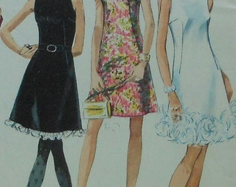 Vintage Dress Sewing Pattern Simplicity 7976 Size 12