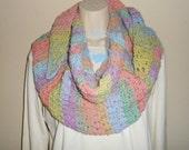 DayDream Cluster Crochet Shawlette/Scarf - crochet, women, scarf, wrap, shawlette, shawl, scarflette, winter, accessory, neck warmer