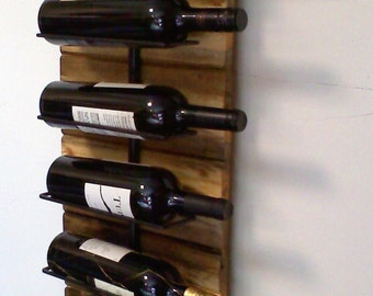 Wall wine and whiskey Rack