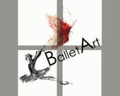 """Art print set - any four prints from Ballet Art, valentines day, 8.5"""" by 11"""" on archival paper, wall art print, illustrations prints"""