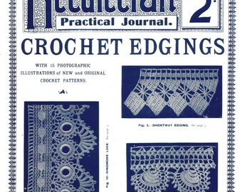 Vintage Crochet Edging Pattern Needlecraft Practical Journal #23 Digital Download