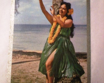 Hawaiiana 1950's Congress Hula Girl Souvenir Playing Cards - Regular Deck