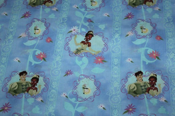 Disney Princess And The Frog Tiana Cotton Fabric 3 By