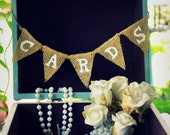 Mini Cards sign.Burlap