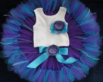 Baby Girls Birthday Tutu Dress Outfit, Sweet Blueberry Kisses Tutu Dress Outfit for Little Baby Girls Birthday
