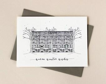 Holiday Card Set: Brownstone Holiday