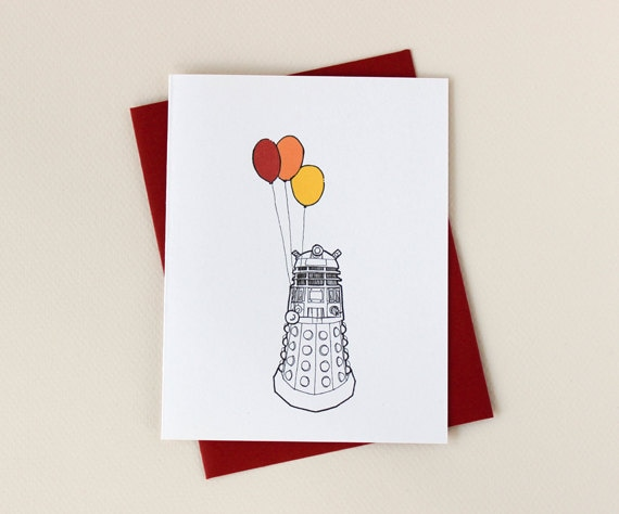 Doctor Who Inspired Dalek Birthday Card Celebrate with – Dr Who Birthday Card
