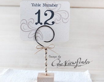 Rustic Wedding table number holders - set of 10