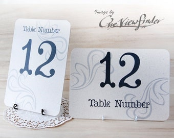 "Wedding table number  holders - 5"" x 7"" card holder - set of 10"