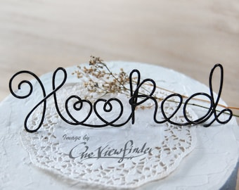 Customize Wire Cake Topper, wire cake topper - Hooked, Beach Wedding Decor