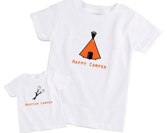 Father / Dad & Son Matching T-Shirt -  Happy Camper