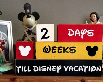 The ORIGINAL Disney Vacation Countdown Wooden Block Set for Weeks and Days