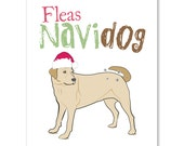 Fleas Navidog Greeting Card
