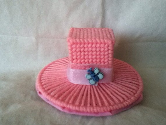 Pink top hat barrette