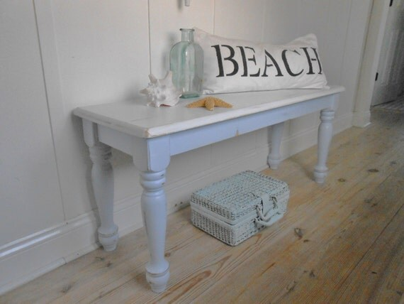 Bench Shabby Chic Furniture Beach Cottage Chair