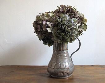 Rustic Antique Copper Pitcher Vase