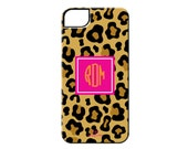 Monogrammed iPhone 5C Case and Samsung Galaxy Case - LEOPARD COLLECTION - By A Blissful Nest