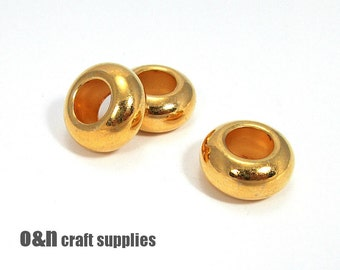 Rondelle 18k gold plated bead, 20mm  - (1)