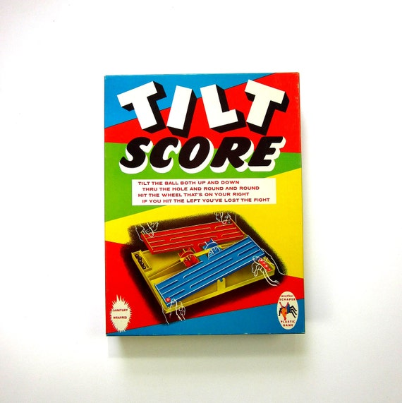 Schaper's Tilt Score 1964 / Be The First To Get All Your Marbles In The Scoring Wheel / Complete and Like New