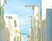 San Franciso Photography // Urban, City, San Francisco, City Streets California Dreamin // Modern Home Decor - SF Alley