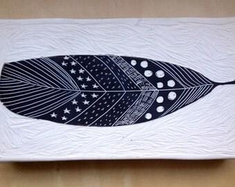 Porcelain Feather Wall Art