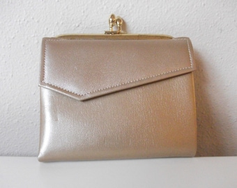 Metallic Gold Leather 60's Wallet