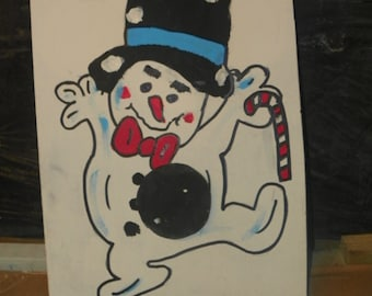 Snow  Man let it  snow     Bean toss with 4  bean bags