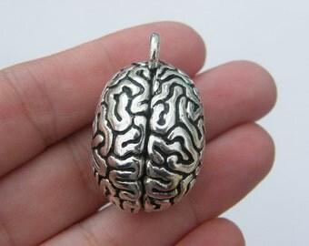 1 Brain pendant antique silver tone MD52