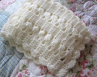PDF Blanket CROCHET PATTERN - Eloise Baby Blanket/Afghan/Cover - Easy skill level