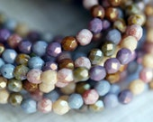 4mm Fire Polished Luster Mix - Luster Fire Polished Beads - Antique - Bead Soup Beads