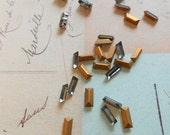 vintage Swarovski rhinestones, Black Diamond, baguette/rectangular shape 4501, 7/3, 7mm x 3mm, pre-set or loose, 4, 6 or 12pcs