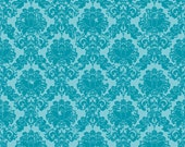 Andrea Victoria by My Minds Eye and Riley Blake Designs Damask Aqua 1 yard