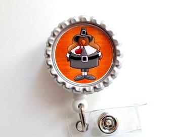 Pilgrim Turkey - Nursing Badge Holder - Nurse Badge Reel  - Name Badge - Teacher Badge Reel - Nurses Badge - Cute ID Badge Reel