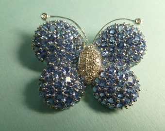 18k Tanzanite and Diamond Buttefly Brooch