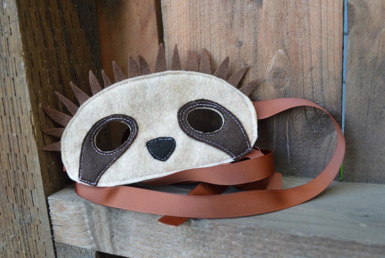 Sloth mask for Sloth mask template
