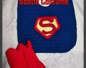 Super Kid Bib and Bootie Crochet Pattern PDF- INSTANT DOWNLOAD
