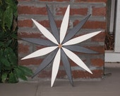 Black & White Starburst Garden Wreath handcrafted by Laughing Creek