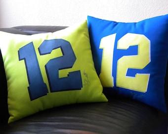 "Outdoor pillow 12th twelfth man Seattle 15"" football bowl champions seahawk osprey fans loud proud 137.6 decibels Crabby Chris Original"