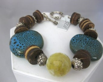 Kazuri Stone Bead Bracelet