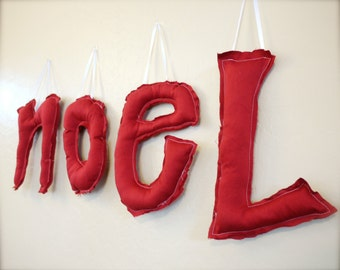 "Holiday Custom Hanging Letters. 10"". Made to Order."