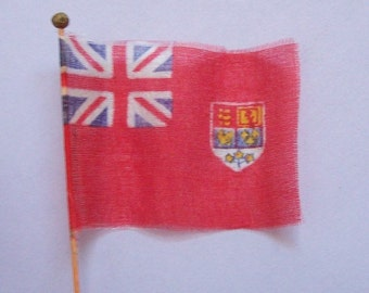 1950s Canadian Flag Red Ensign Silk Miniature