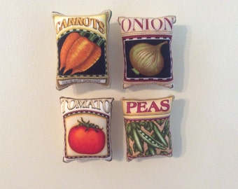Vegetable Pillow Magnets