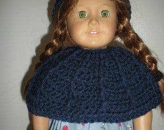 18 inch doll-Poncho with hat