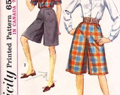 Simplicity 5154 Vintage 60s Culottes shorts Sew Pattern
