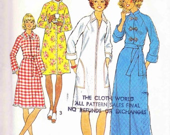 Simplicity 7238 Vintage Robe Coat Boho Kimono Robe Jacket Swimsuit Cover Sew Pattern